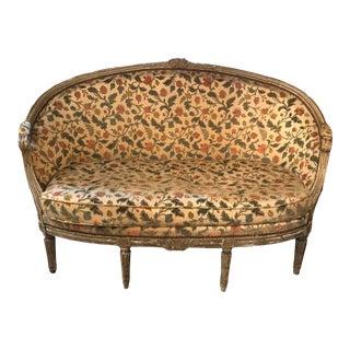 19th Century Vintage Louis XVI Painted Canape For Sale