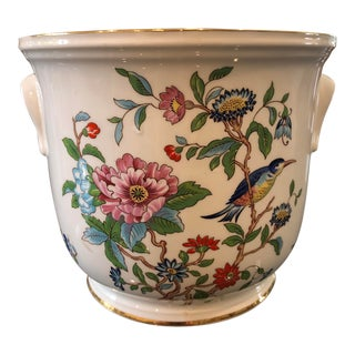 Ansley Botanical Porcelain Jardiniere For Sale