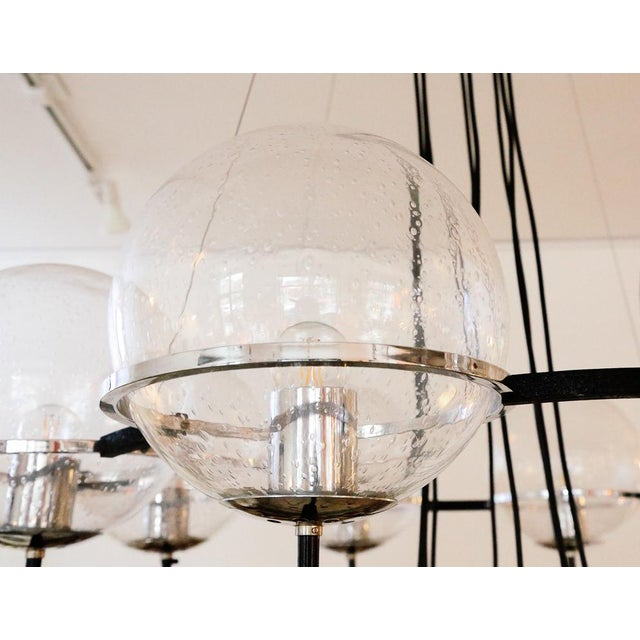 Saturnus Glass Globe Chandelier by Raak of Holland For Sale In New York - Image 6 of 13