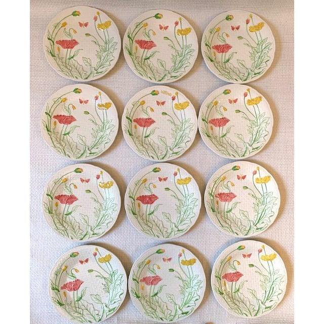 Mid 20th Century French Gien Desert/Salad Plates - Set of 12 For Sale - Image 5 of 9
