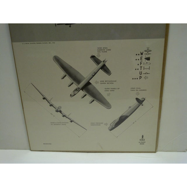 """Vintage WWII Aircraft """"Lancaster"""" Recognition Poster For Sale - Image 4 of 4"""