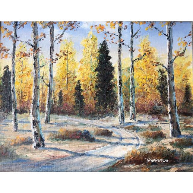Cabin Autumn Aspens Original Painting For Sale - Image 3 of 9