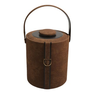 Vintage Georges Briard Leather Equestrian Ice Bucket For Sale