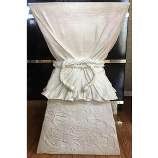 Hollywood Regency John Dickinson Style Draped Rope Side Table Preview