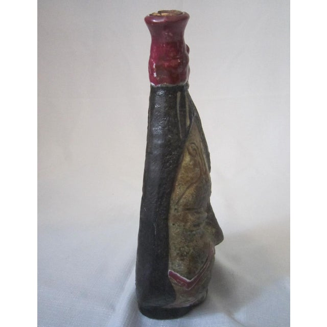 1950s Vintage Italian Art Pottery Decanter For Sale - Image 5 of 8