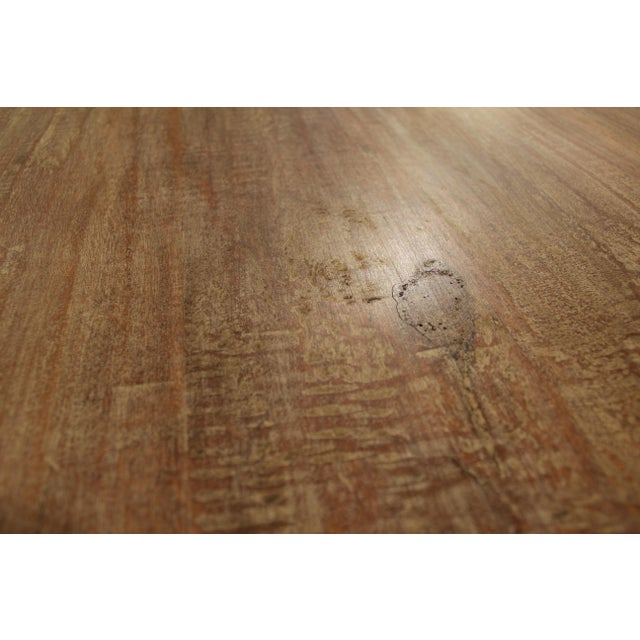 """French Country Farm Rustic Dining Table 90"""" Long - Image 7 of 11"""