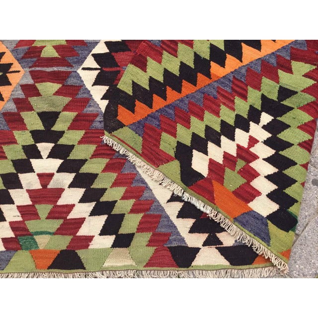 Vintage Turkish Kilim Rug For Sale - Image 9 of 10