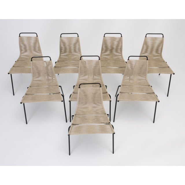 A set of eight dining chairs designed by Poul Kjærholm for E. Kold Christensen in 1955. Originally, the series PK-1, -2,...