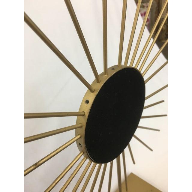 Vintage Gold Metal Starburst Vanity Mirror - Image 8 of 10
