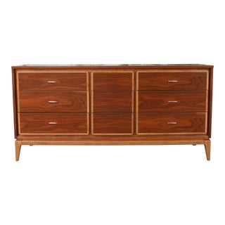 Mid Century Walnut Kent Koffey Dresser For Sale