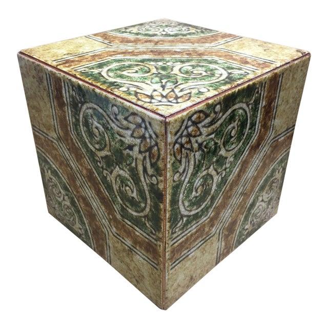 Contemporary Italian Tile Cachepot/Riser For Sale