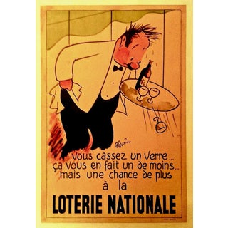 Vintage Original French Mid-Century Bar and Cafe Poster