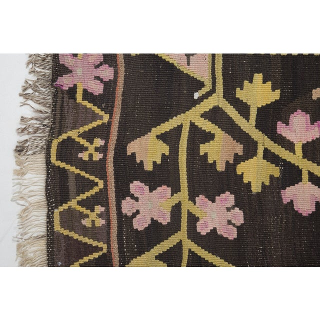 Turkish Primitive Large Kilim Rug - 9′7″ × 10′5″ - Image 2 of 10