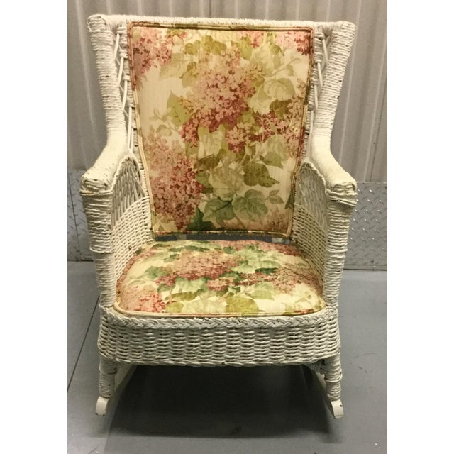 Vintage Wicker Rocking Chair - Image 3 of 10