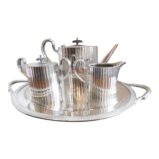 Vintage Wilcox 1940's American Silverplate Coffee/Tea Set of Four For Sale
