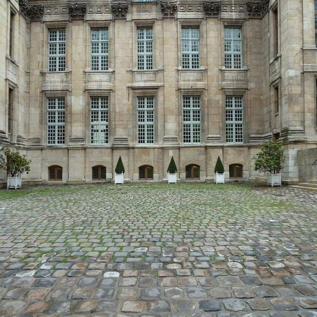 Courtyard, Musee de la chasse et nature, Paris, 2010 Original photograph by Louise Weinberg. Please respect my copyright....