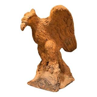 Rare Terracotta Garden Eagle, Circa:1800. Prussia For Sale