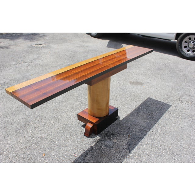 French Art Deco Palisander Console Table - Image 5 of 10