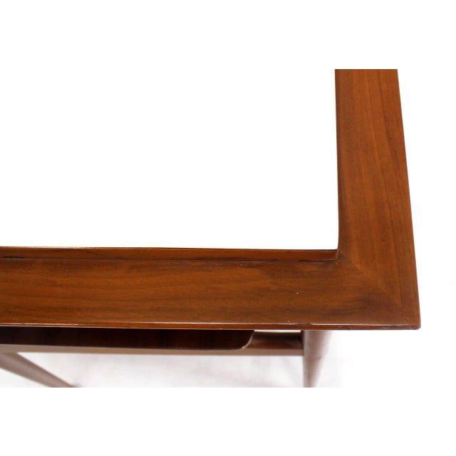 Pair of Mid Century Modern Walnut One Drawer End Tables or Night Stands For Sale - Image 4 of 9