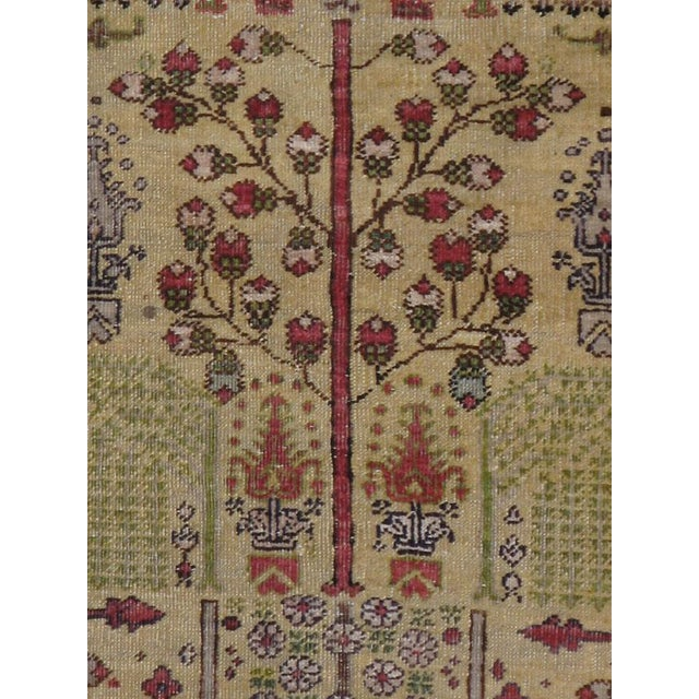 An antique Turkish Sivas carpet. This attractive west Persian scatter display a classic one-way garden design of...