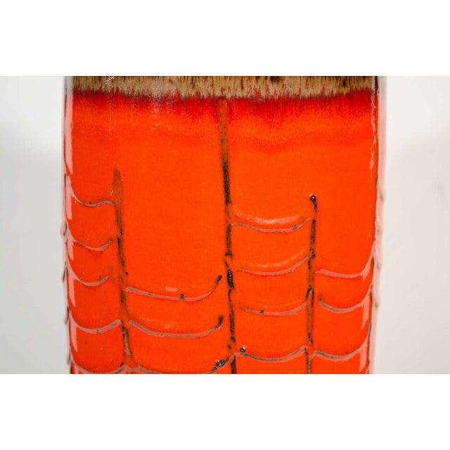 Exceptional Large Mid Century Modern Vase By Scheurich Keramik Decaso