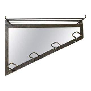 Art Deco Style Coat Rack with Mirror For Sale