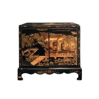 Midcentury Carved Chinoiserie Cabinet For Sale