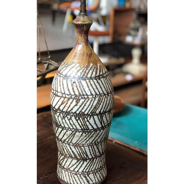 Pacific Northwest Ceramists Robert Sperry Studio Pottery Lamp.