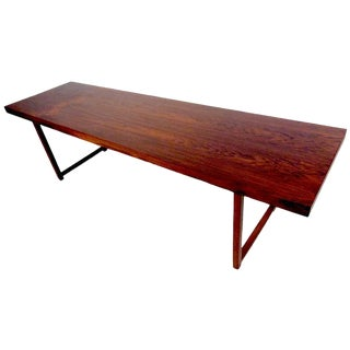 Vintage Milo Baughman Rosewood Coffee Table for Thayer Coggin For Sale