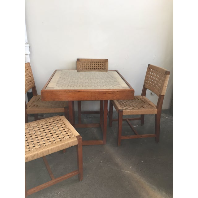 Mid Century Jute Dining Set For Sale - Image 10 of 10