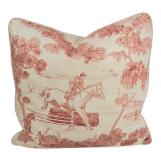 Ralph Lauren Toile Decorative Throw Pillow For Sale