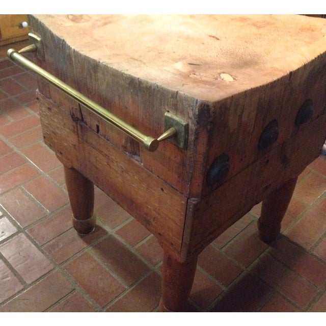 Vintage 1930's Maple Chopping Block Table - Image 4 of 7