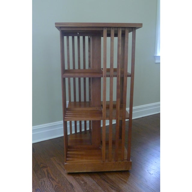 Stickley Mission Cherry Revolving Bookcase - Image 4 of 6