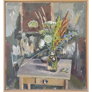 """Still Life Autumn Bouquet"" (After Cezanne) by John Anderson, Oil on Canvas For Sale"