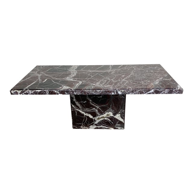 Monumental Marble Dining or Desk Table For Sale