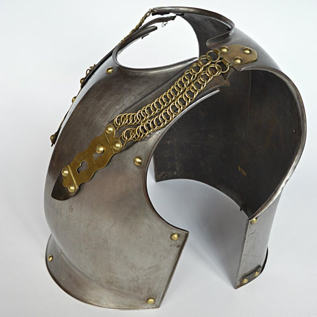 Animal Skin French Cuirassier's Breast and Back Plate For Sale - Image 7 of 11
