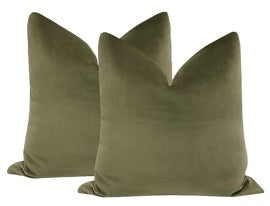 Image of Army Green Pillows