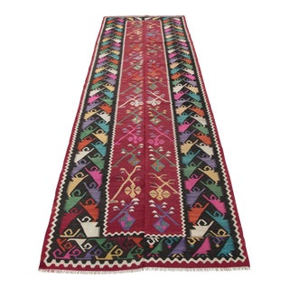 Turkish Kilim Runner -3′10″ × 10′9″ For Sale