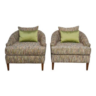 Vintage Mid-Century Modern Upholstered Chairs- a Pair For Sale