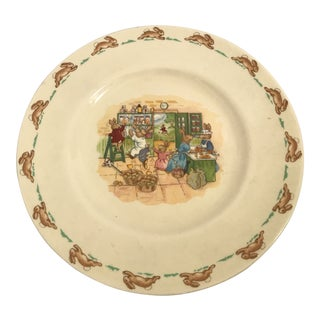 1936 Royal Doulton Fine English Bone China Child's Plate For Sale