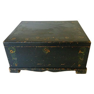 Painted Linen Chest For Sale