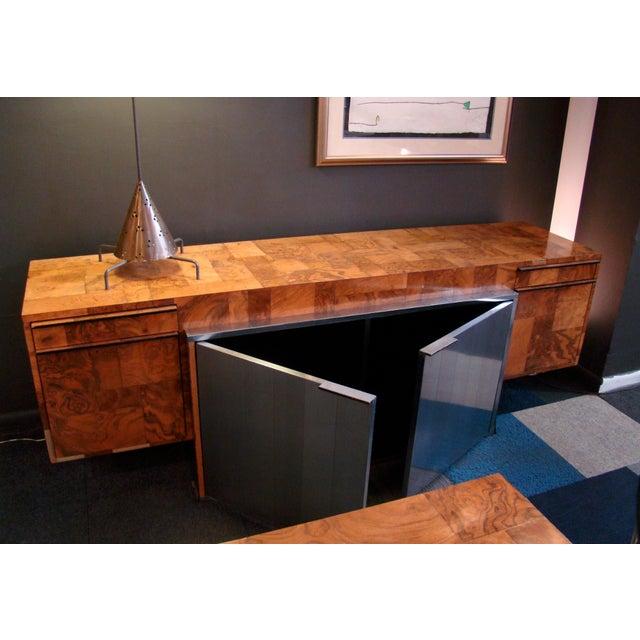 "1970s Mid-Century Modern Paul Evans ""Cityscape"" Executive Desk For Sale - Image 11 of 12"
