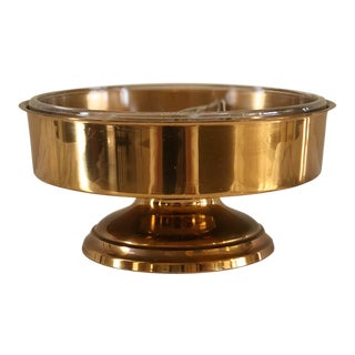 1950s Footed Bronze Candy Bowl For Sale