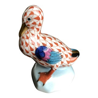 Vintage Herend Porcelain Duck