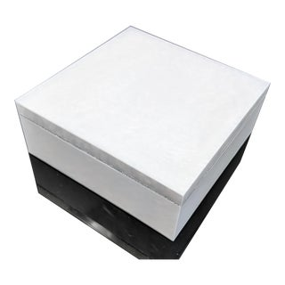 Pearlized Lucite Box With Diamond Edge For Sale