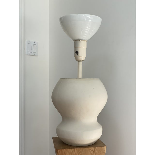 1980s Matte White Plaster Table Lamp by Michael Taylor For Sale - Image 13 of 13