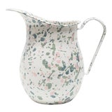 Image of Crow Canyon Home Enamelware Catalina Large Pitcher in Mint Hibiscus For Sale