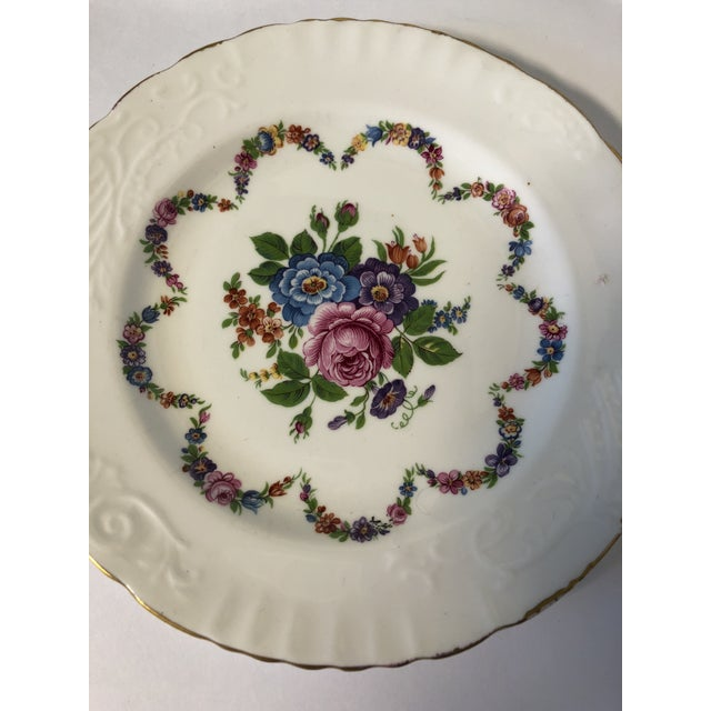 English Bone China Floral Salad Plates - Set of 6 For Sale - Image 4 of 5