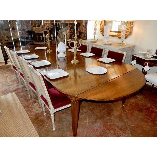 Wood Louis XVI Directoire' Extension Dining Table For Sale - Image 7 of 9