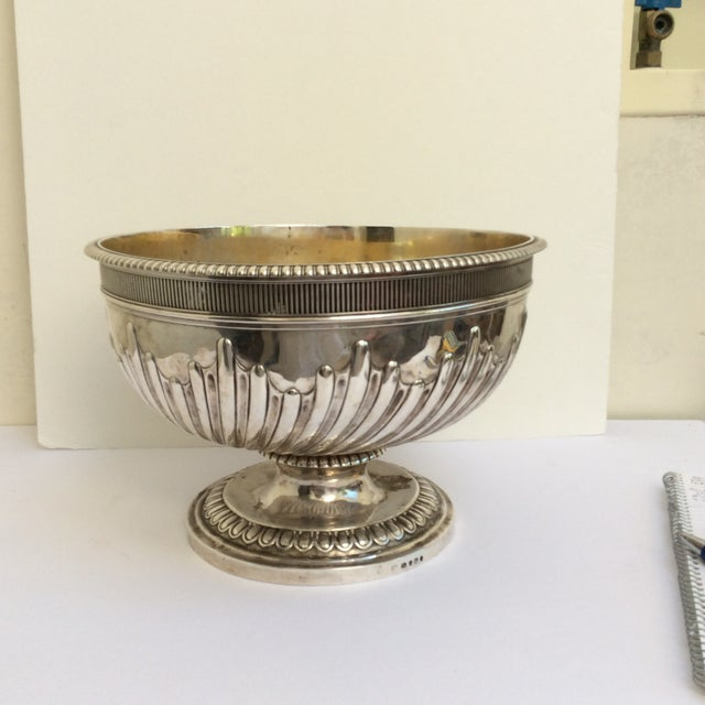 Antique English Sterling Silver Punch Bowl For Sale - Image 11 of 11